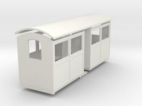 009 small closed coach centre entrance   in White Natural Versatile Plastic