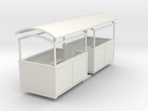 009 Small semi-open coach centre entrance  in White Natural Versatile Plastic