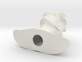 Android head in White Natural Versatile Plastic