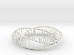 Homage to Lacan | Moebius Arc | 32x8 | 0.375 in White Natural Versatile Plastic