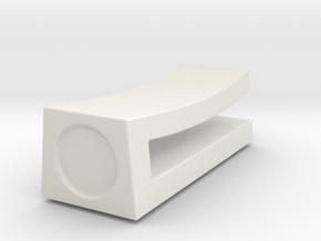 Chopstick Rest Minimalistic in White Natural Versatile Plastic