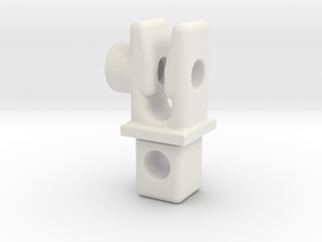 LegPLugFenceSideWithSlideLock 111002 in White Natural Versatile Plastic