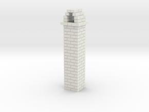 Brick Chimney 01 7mm scale in White Natural Versatile Plastic
