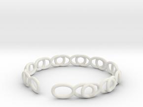 Pulsera Infinito in White Natural Versatile Plastic