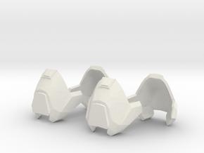 1/6 scale knee armor 2 pairs revised scale in White Natural Versatile Plastic