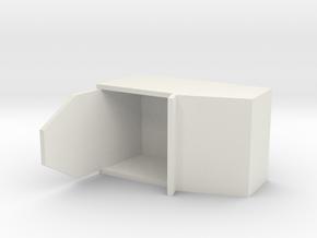 "Simple Action Figure Seat - 3-3/4"" Scale in White Natural Versatile Plastic"
