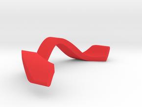 RING WAVE ADJUSTABLE INNER PART in Red Processed Versatile Plastic