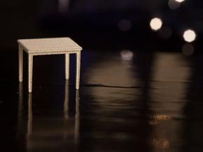 1:48 Rectangular Table in White Natural Versatile Plastic