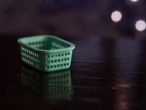 1:24 Laundry Basket  in White Natural Versatile Plastic