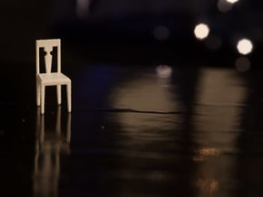 1:48 Simple Side Chair in White Natural Versatile Plastic