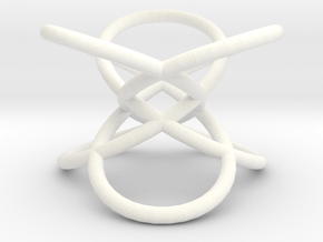 Trefoil-mod1 in White Processed Versatile Plastic