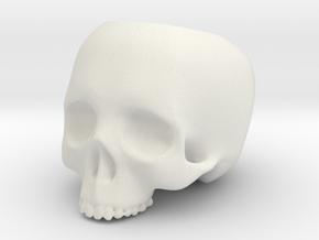 Skull Pot V2 - H60MM in White Natural Versatile Plastic