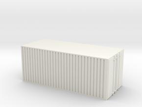 28mm simple cargo container hollow in White Natural Versatile Plastic