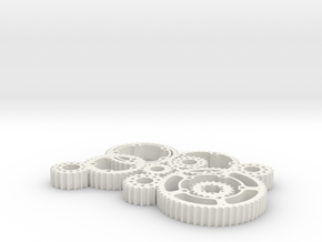 gears in White Natural Versatile Plastic