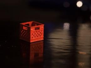 1:24 Square Plastic Crate in White Natural Versatile Plastic