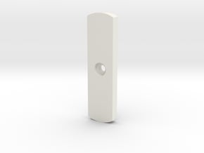 MaceWindu Belt Buckle Lever 1.0 in White Natural Versatile Plastic