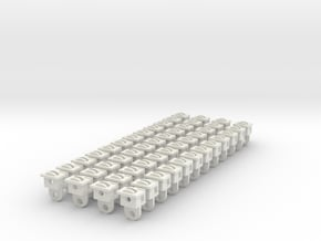 HOn30 Sn2 Body mount coupler boxes for McHenry cou in White Natural Versatile Plastic