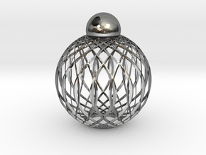 Radials Earring Pendant in Polished Silver