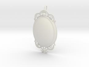 Opal PENDANT in White Natural Versatile Plastic