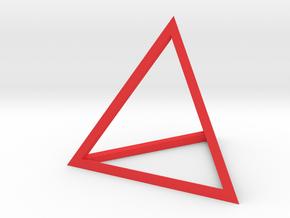 Tetrahedron in Red Processed Versatile Plastic