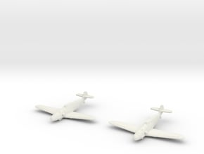 1/200 Messerschmitt BF-109F (x2) in White Natural Versatile Plastic