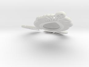 AV earingL in White Natural Versatile Plastic