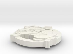 Arcanine Pendant in White Natural Versatile Plastic