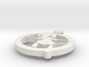 Mew Pendant in White Natural Versatile Plastic