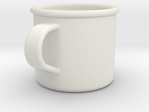 1/6 Scale WWII British Drinking Cup (1) in White Natural Versatile Plastic