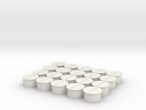 Wisseldeksels 20 pieces in White Natural Versatile Plastic