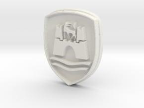 Wolfsburg logo for classic Volkswagen VW  in White Natural Versatile Plastic