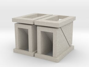 Subway Stairs - set of 4 - Z scale in Natural Sandstone