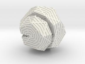 Cracked Spiral in White Natural Versatile Plastic