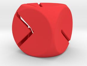 L'Indécis (20 mm - plastic) in Red Processed Versatile Plastic