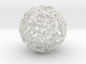 Linked Voronoi - Large in White Natural Versatile Plastic