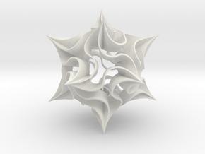 Spikey in White Natural Versatile Plastic
