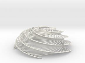Phyllotaxis Sunflower B in White Natural Versatile Plastic