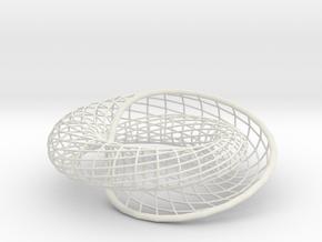 Spiraling Inside-Out | bracelet 32x16 in White Natural Versatile Plastic