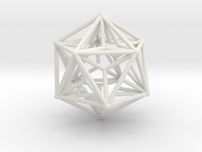 Great Dodecahedron 1.5 in White Natural Versatile Plastic