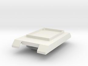 Boe-bot Tank Frame in White Natural Versatile Plastic