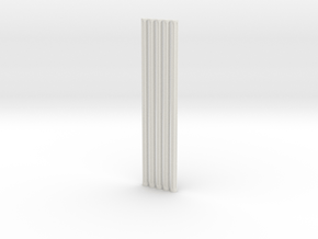 Fluted Rod 99mm X5 in White Natural Versatile Plastic