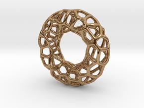 Organic Circle Pendant in Polished Brass