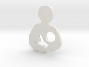 Breastfeeding Plate/Charm (Origami Owl) in White Natural Versatile Plastic