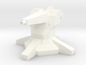 Gun Turret (1/160) in White Processed Versatile Plastic