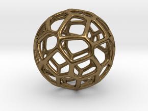 Organic Sphere Pendant in Natural Bronze