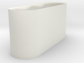 Sliding Door Handle in White Natural Versatile Plastic