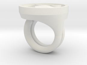 Razorhawk Rings in White Natural Versatile Plastic