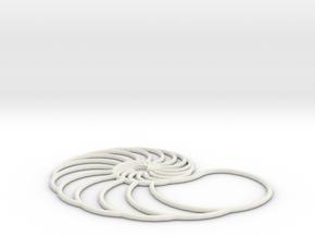 nautilus pendant arched in White Natural Versatile Plastic