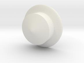 Kettle Helmet in White Natural Versatile Plastic