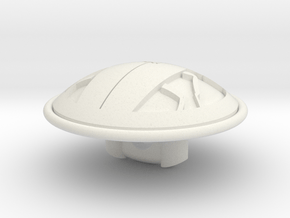 Roach Buttons in White Natural Versatile Plastic